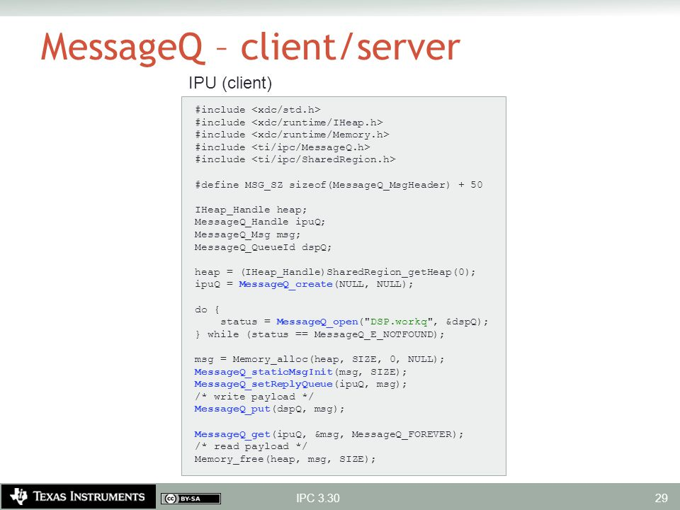 MessageQ – client/server