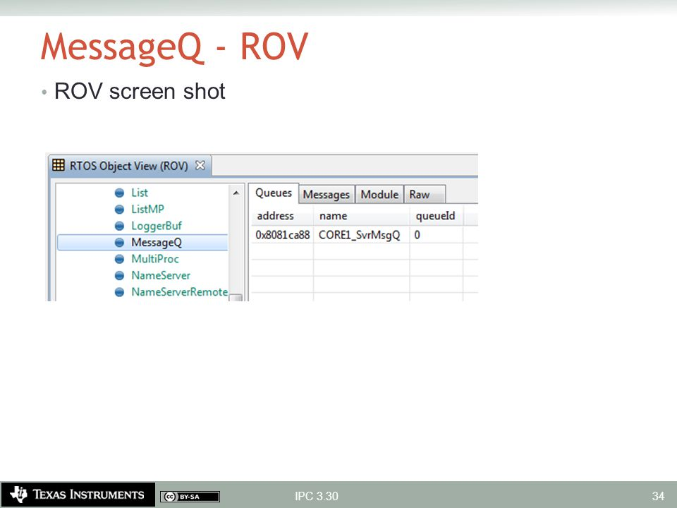 MessageQ - ROV ROV screen shot IPC 3.30