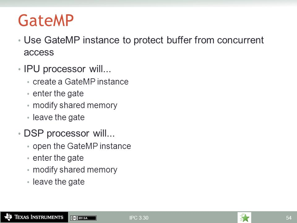 GateMP Use GateMP instance to protect buffer from concurrent access