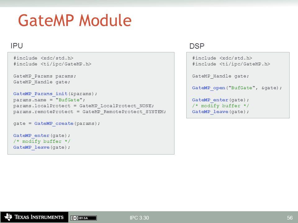 GateMP Module IPU DSP #include <xdc/std.h>