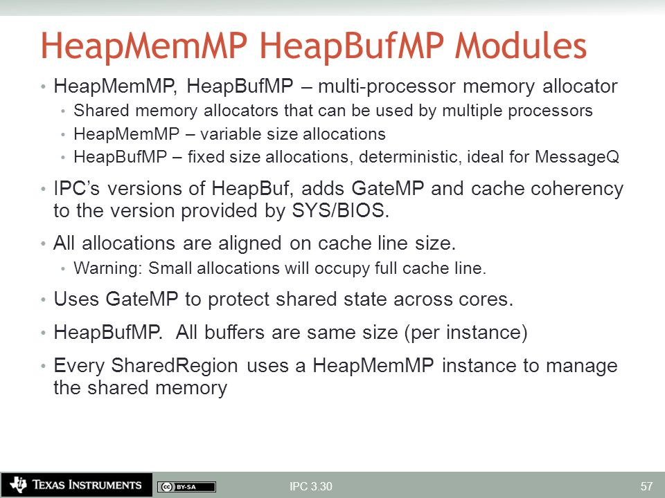 HeapMemMP HeapBufMP Modules