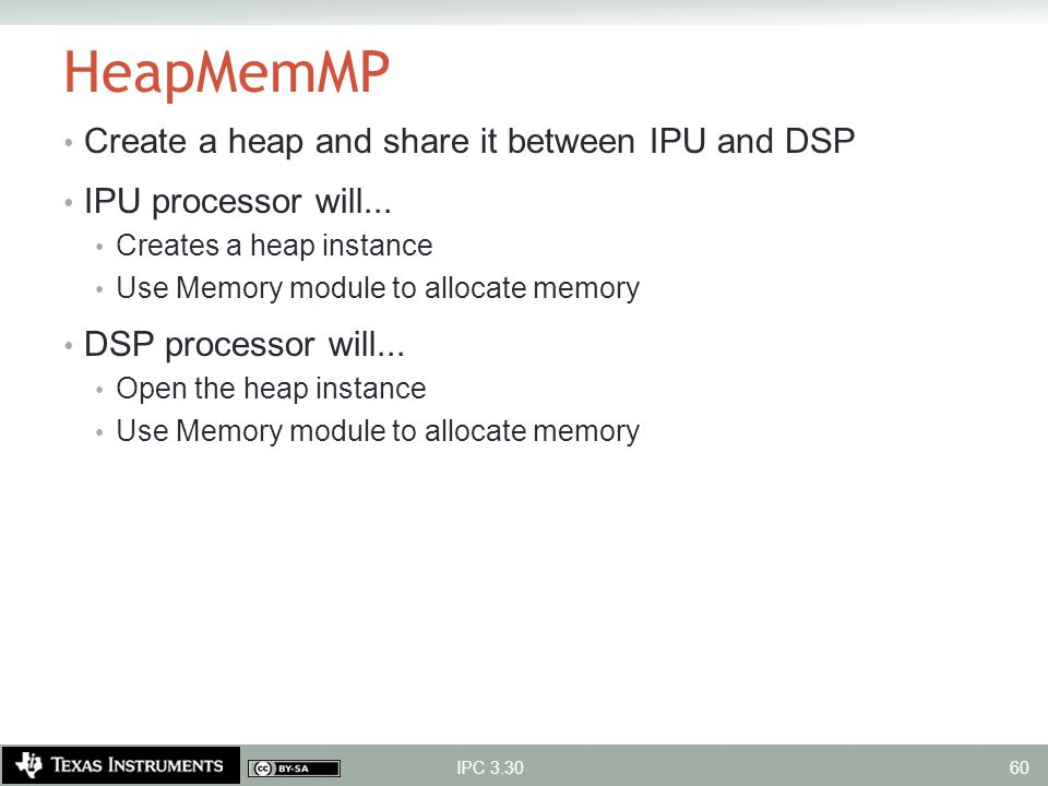 HeapMemMP Create a heap and share it between IPU and DSP