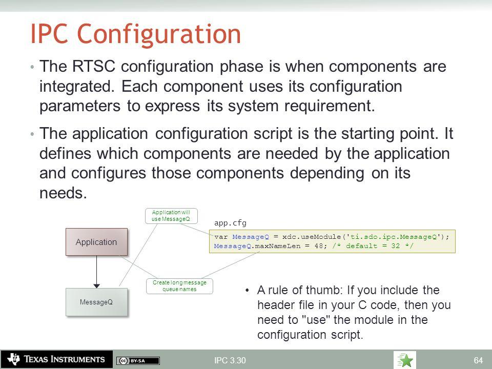 IPC Configuration