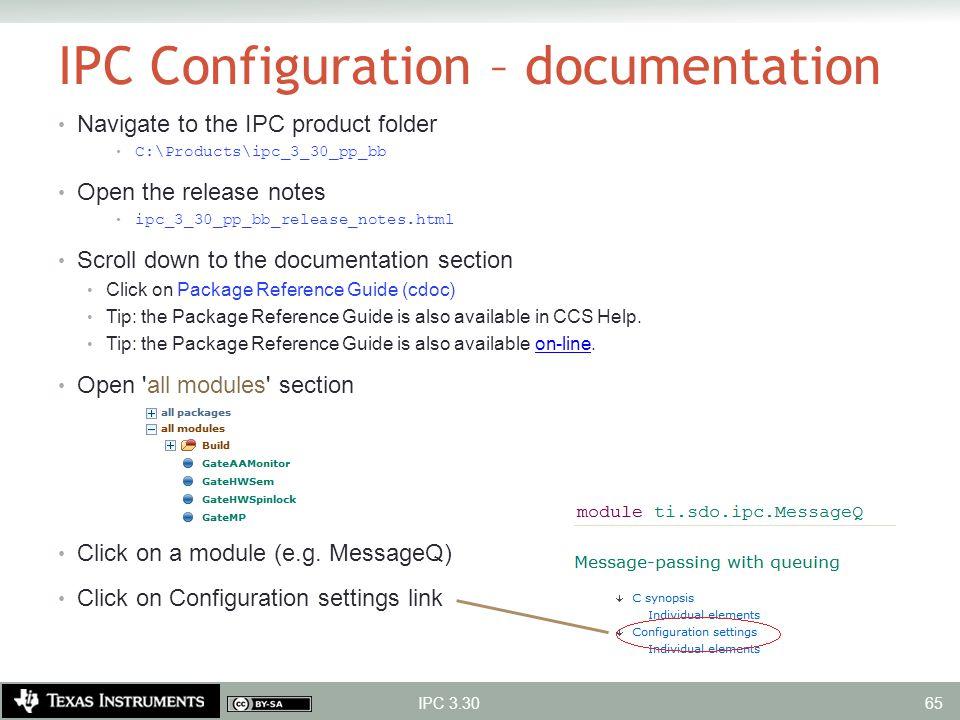 IPC Configuration – documentation