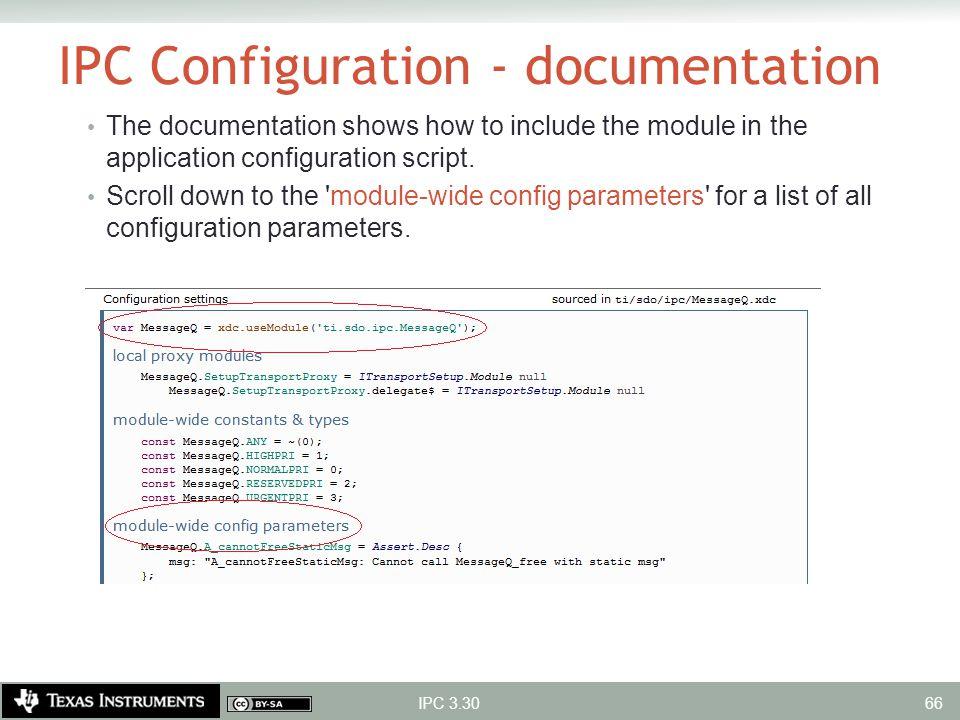 IPC Configuration - documentation