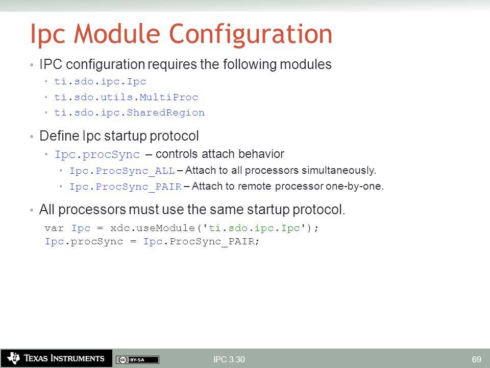 Ipc Module Configuration