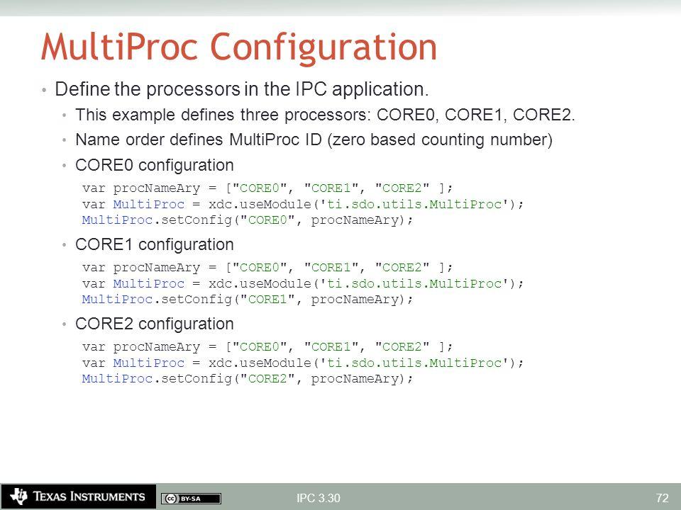MultiProc Configuration