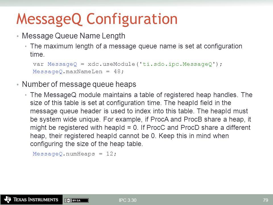 MessageQ Configuration