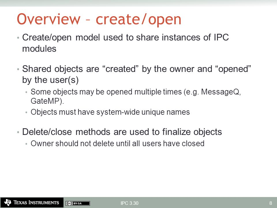 Overview – create/open