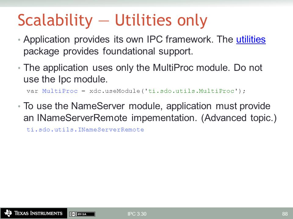 Scalability — Utilities only