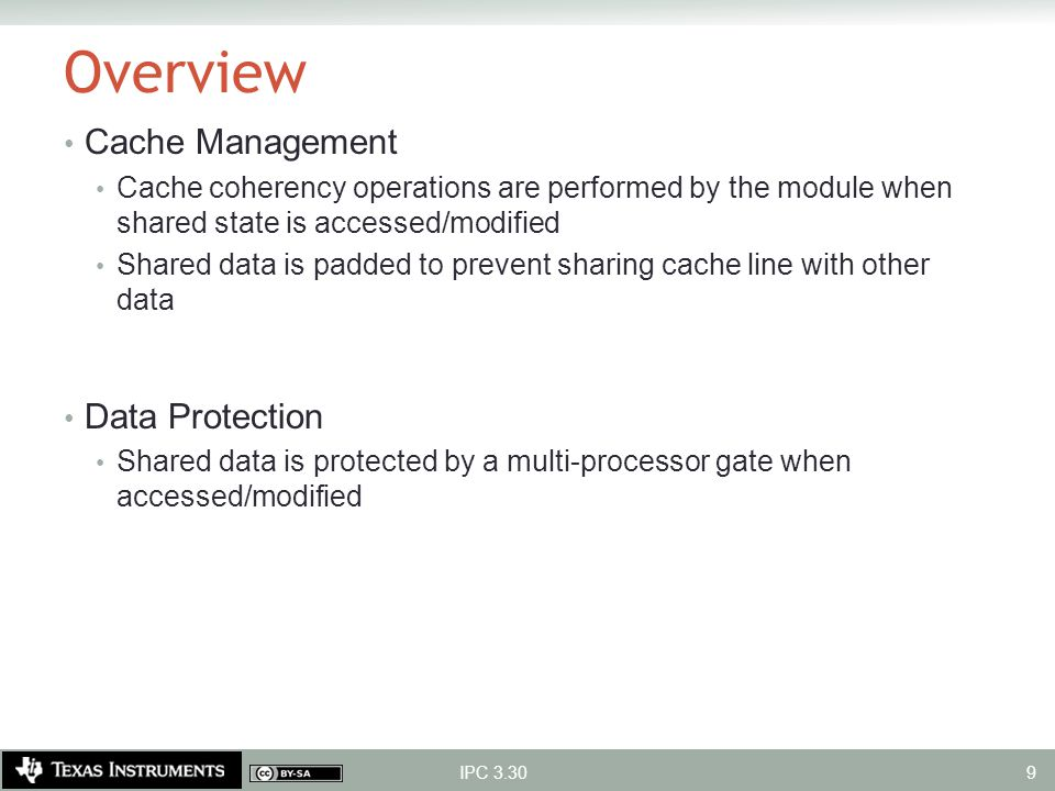 Overview Cache Management Data Protection