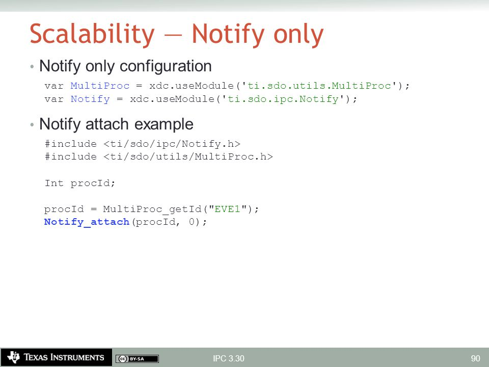 Scalability — Notify only