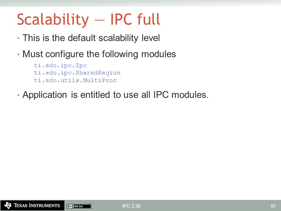 Scalability — IPC full This is the default scalability level