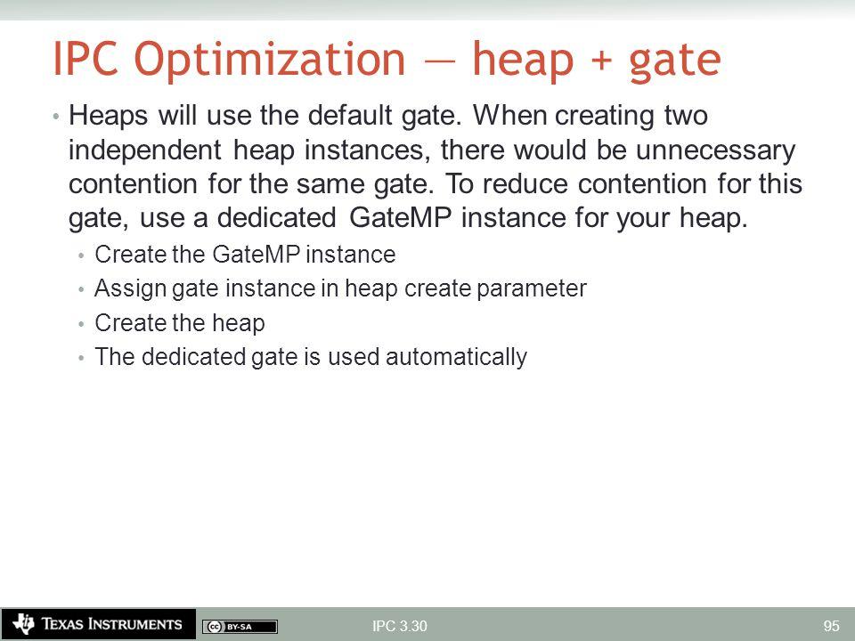 IPC Optimization — heap + gate