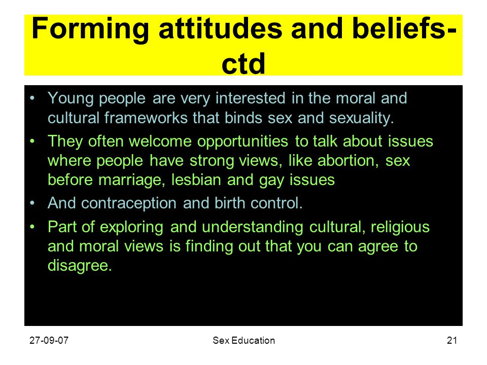 Forming attitudes and beliefs-ctd