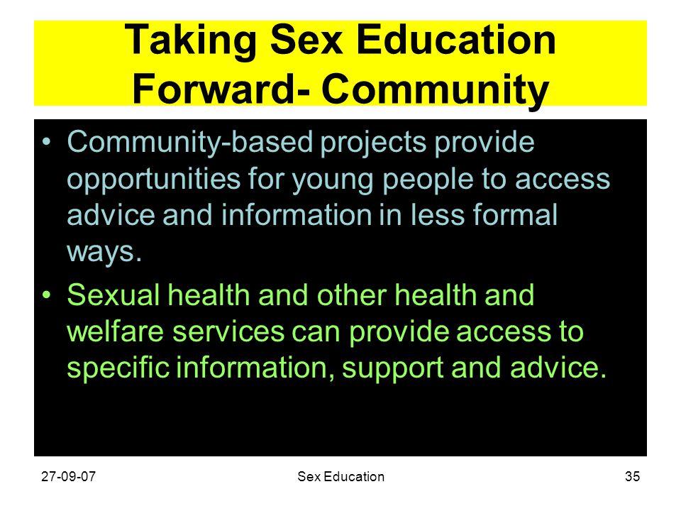 Taking Sex Education Forward- Community