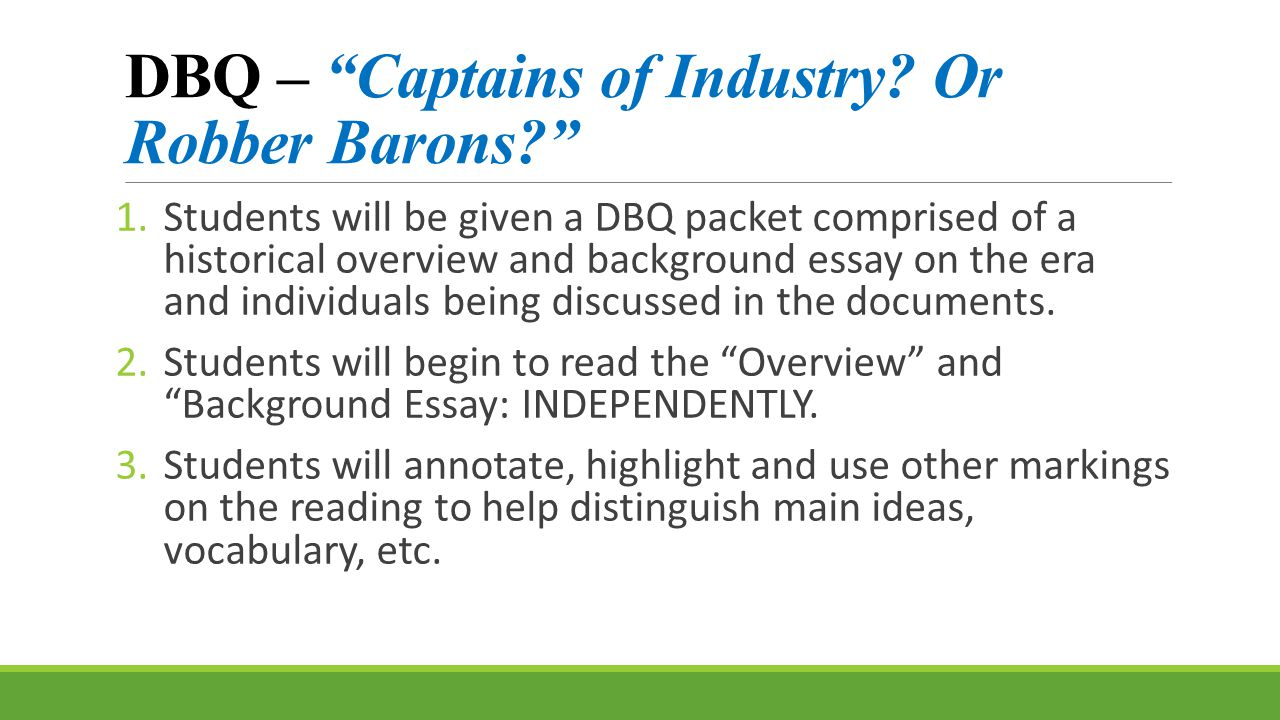 captains of industry or robber barons answer key