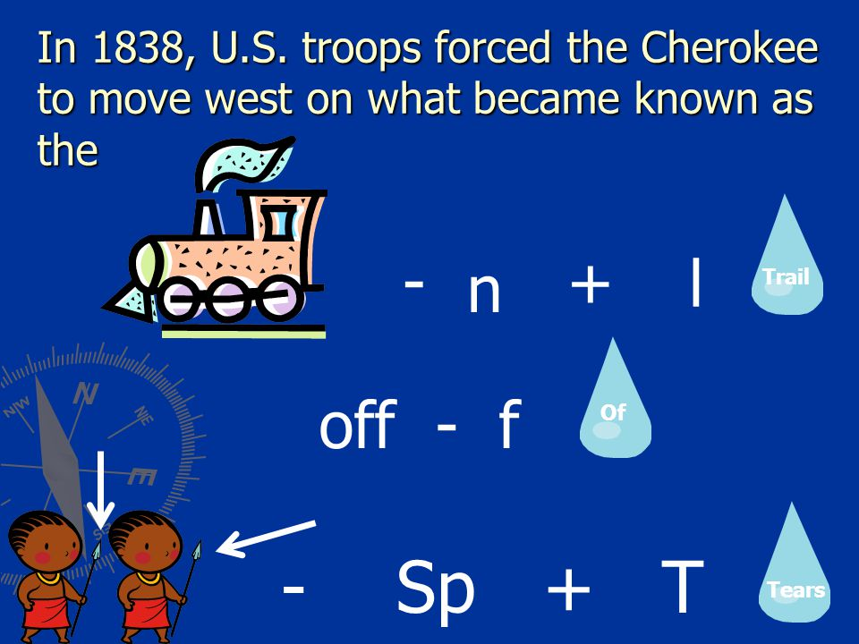 In 1838, U.S. troops forced the Cherokee to move west on what became known as the