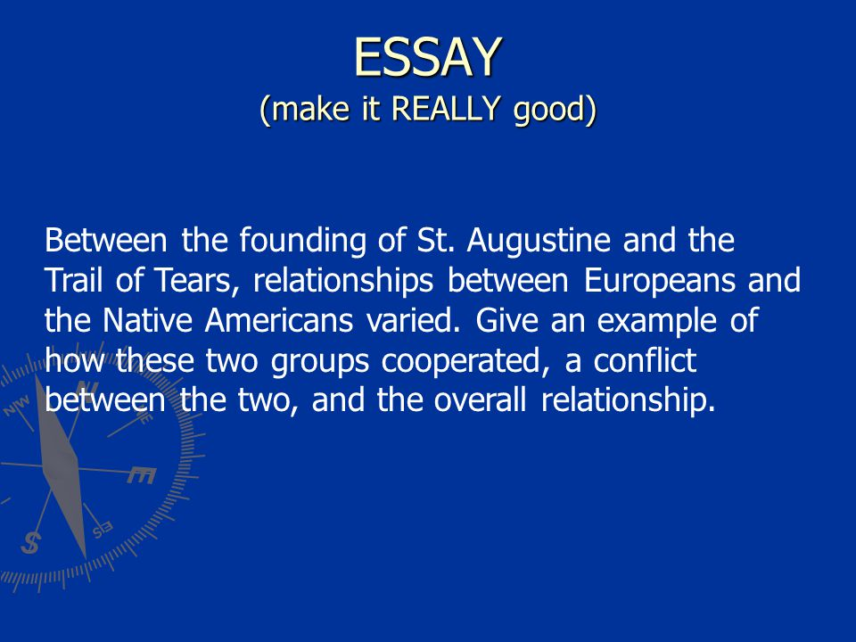 ESSAY (make it REALLY good)