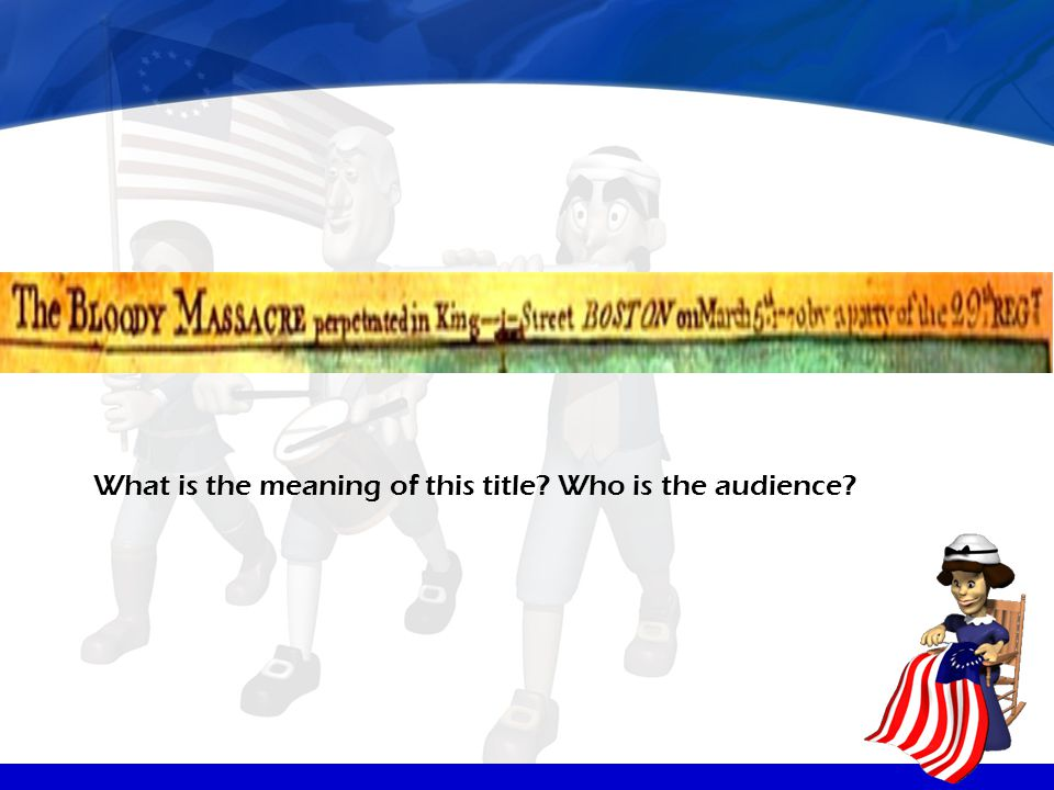 What is the meaning of this title Who is the audience