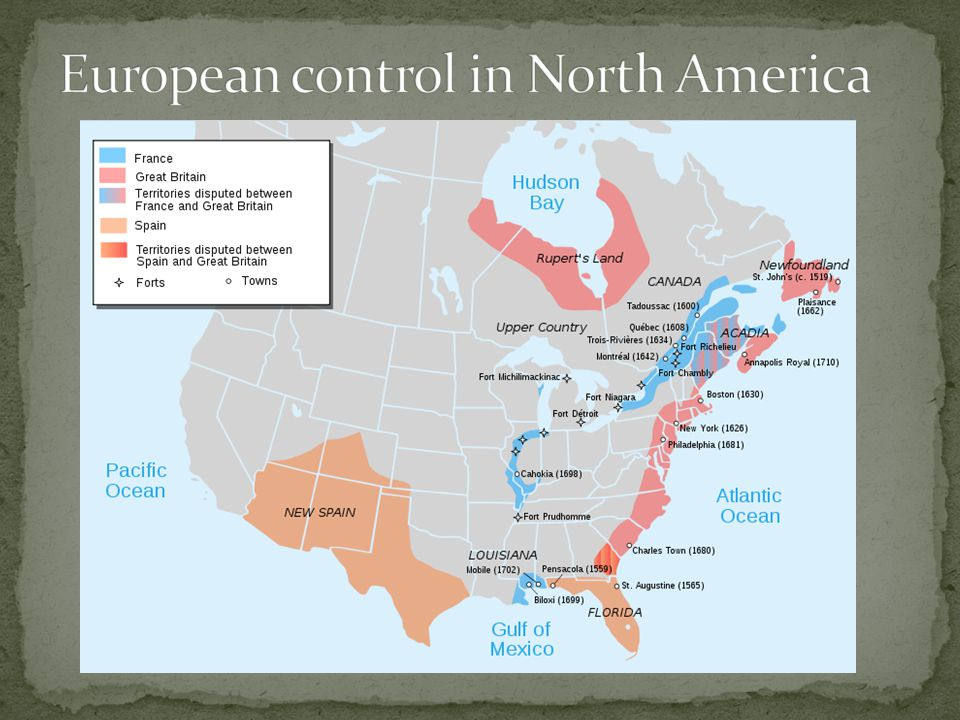 European control in North America