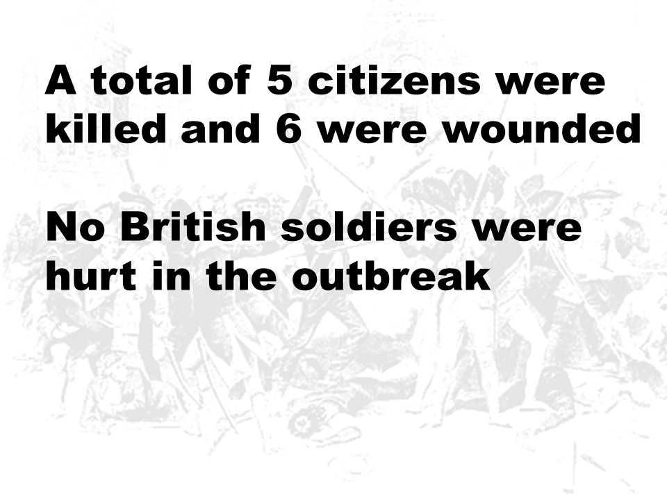 A total of 5 citizens were killed and 6 were wounded