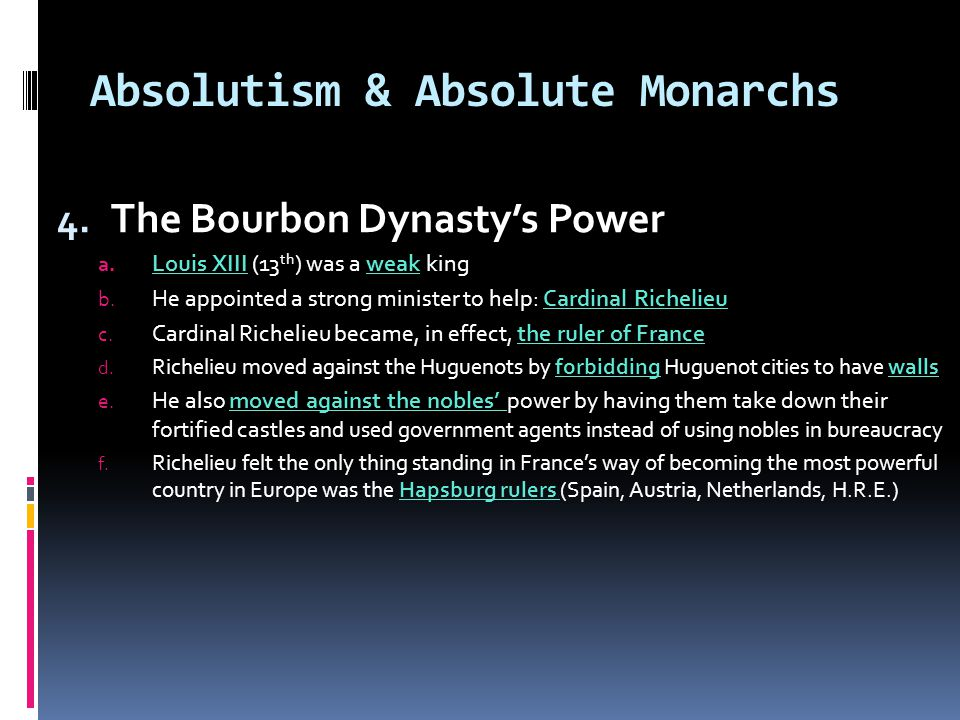 Absolutism & Absolute Monarchs