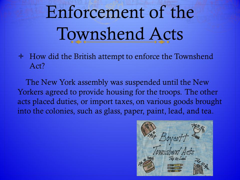 Enforcement of the Townshend Acts