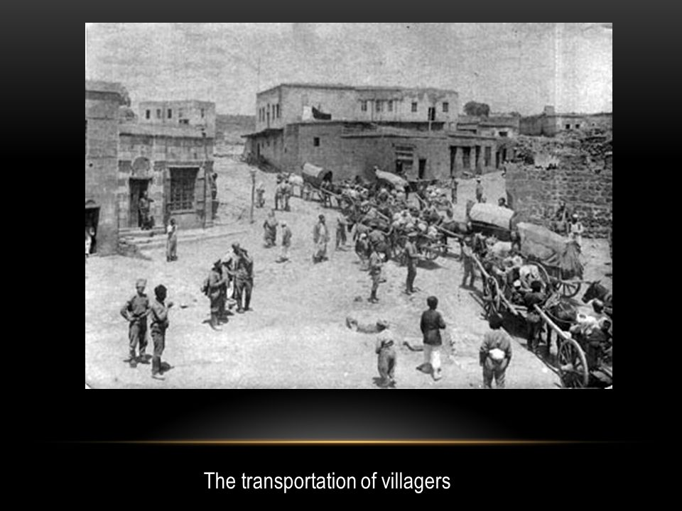 The transportation of villagers