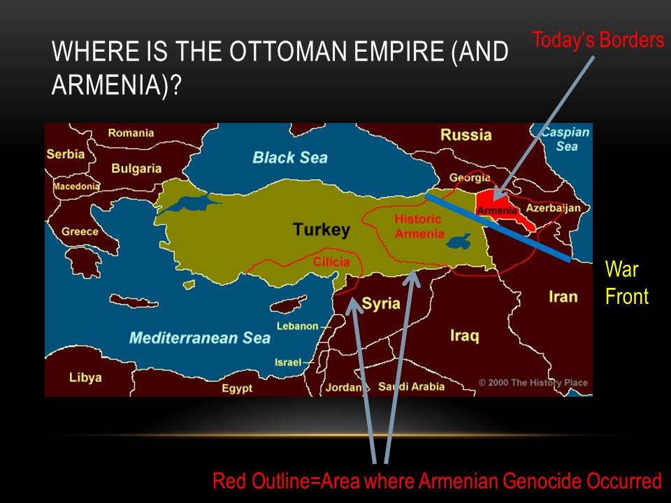 Where is the ottoman Empire (and Armenia)
