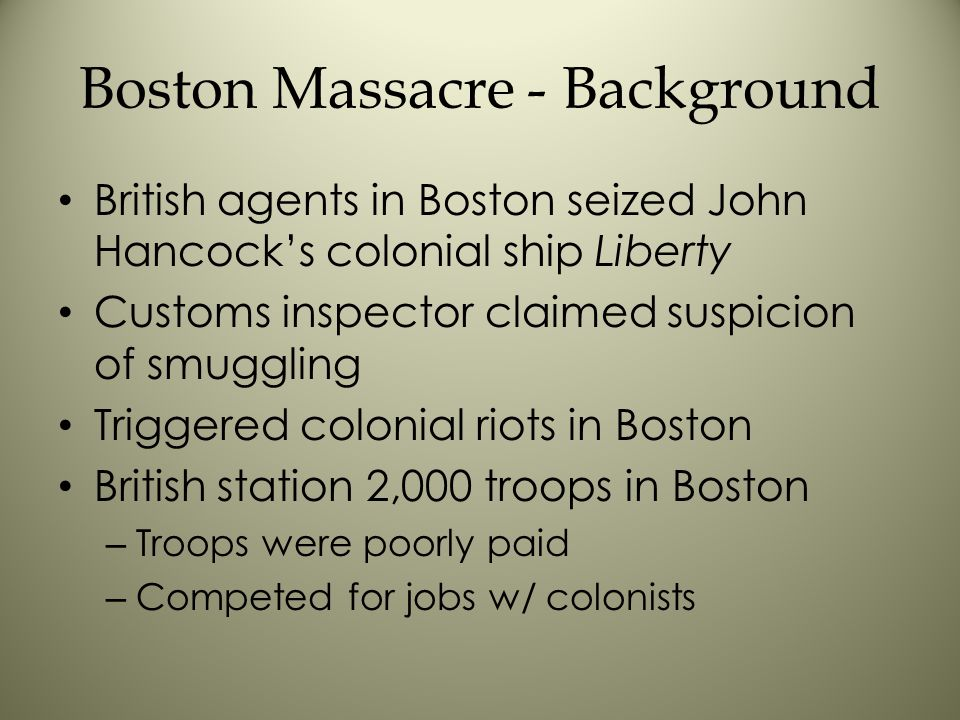 Boston Massacre - Background