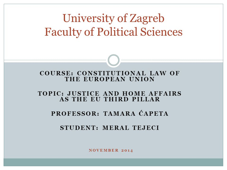 University of Zagreb Faculty of Political Sciences