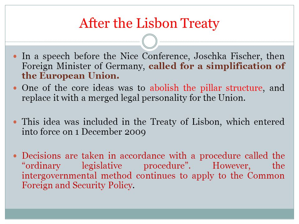 After the Lisbon Treaty