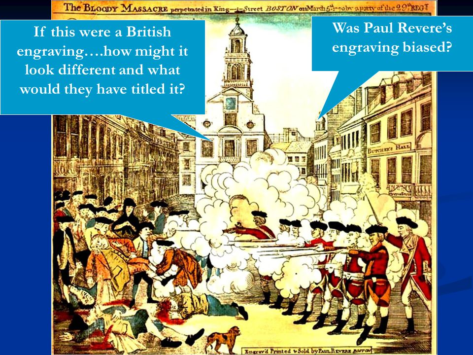 Was Paul Revere's engraving biased