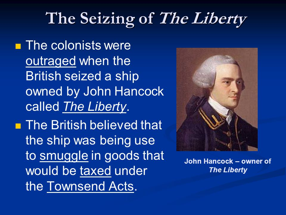 The Seizing of The Liberty
