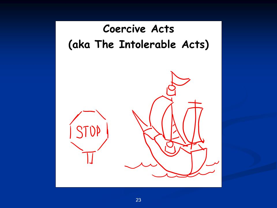(aka The Intolerable Acts)