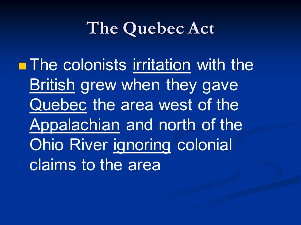 The Quebec Act