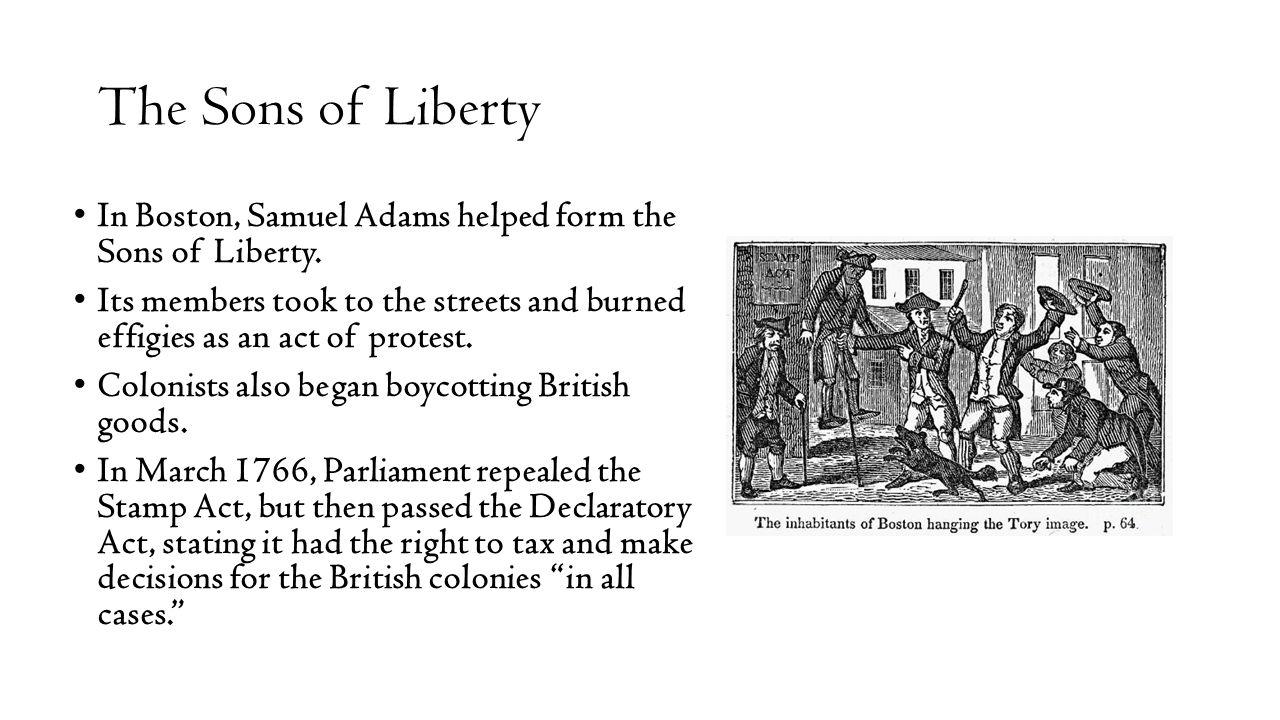 Boycott british goods american revolution