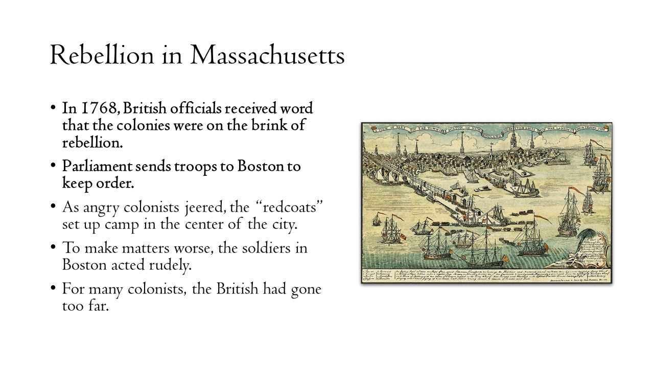 Rebellion in Massachusetts