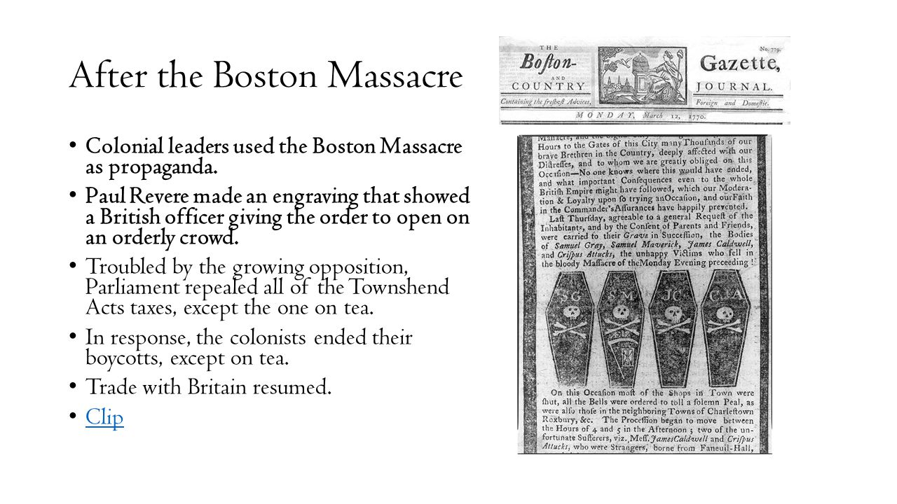 After the Boston Massacre