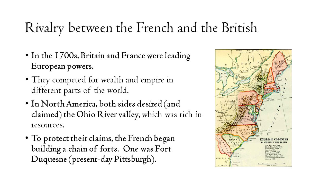 Rivalry between the French and the British