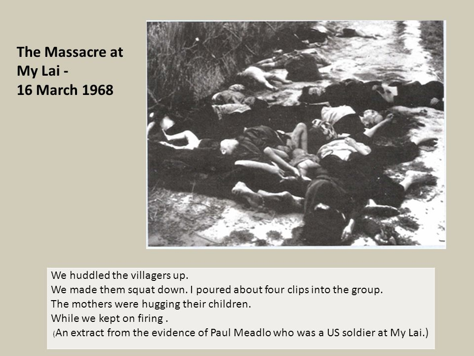 Calley charged for My Lai massacre