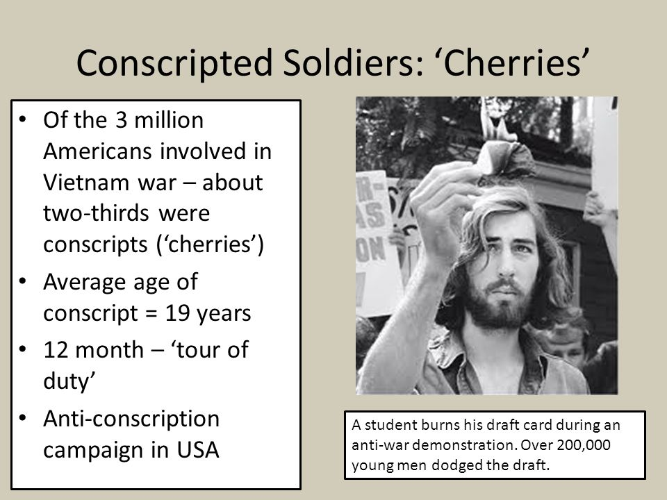 Conscripted Soldiers: 'Cherries'