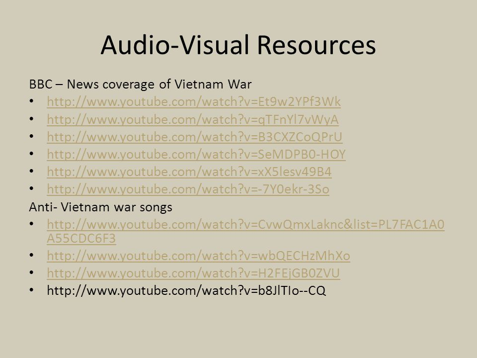 Audio-Visual Resources