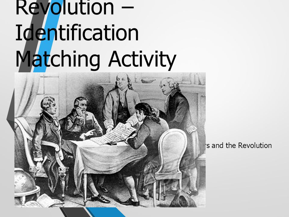 The American Revolution – Identification Matching Activity