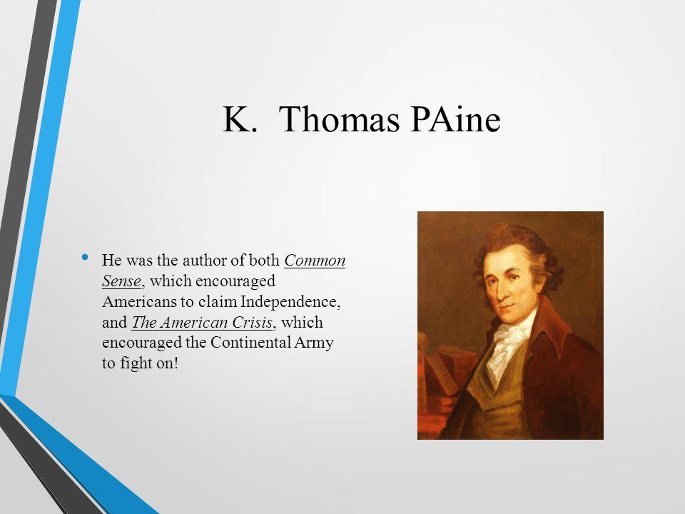 K. Thomas PAine