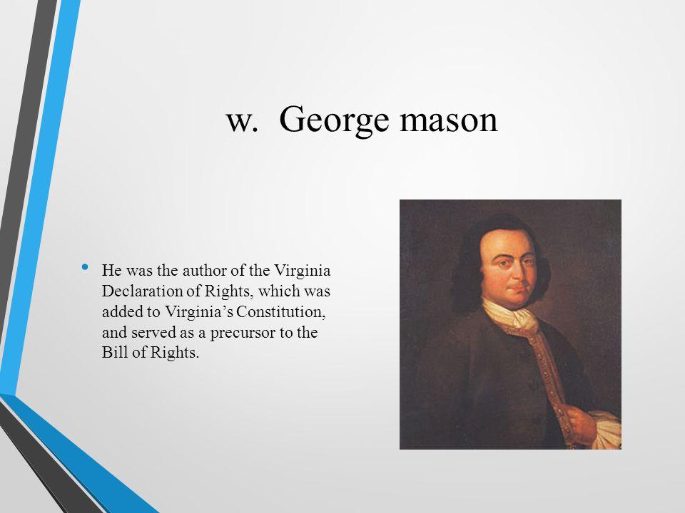 w. George mason