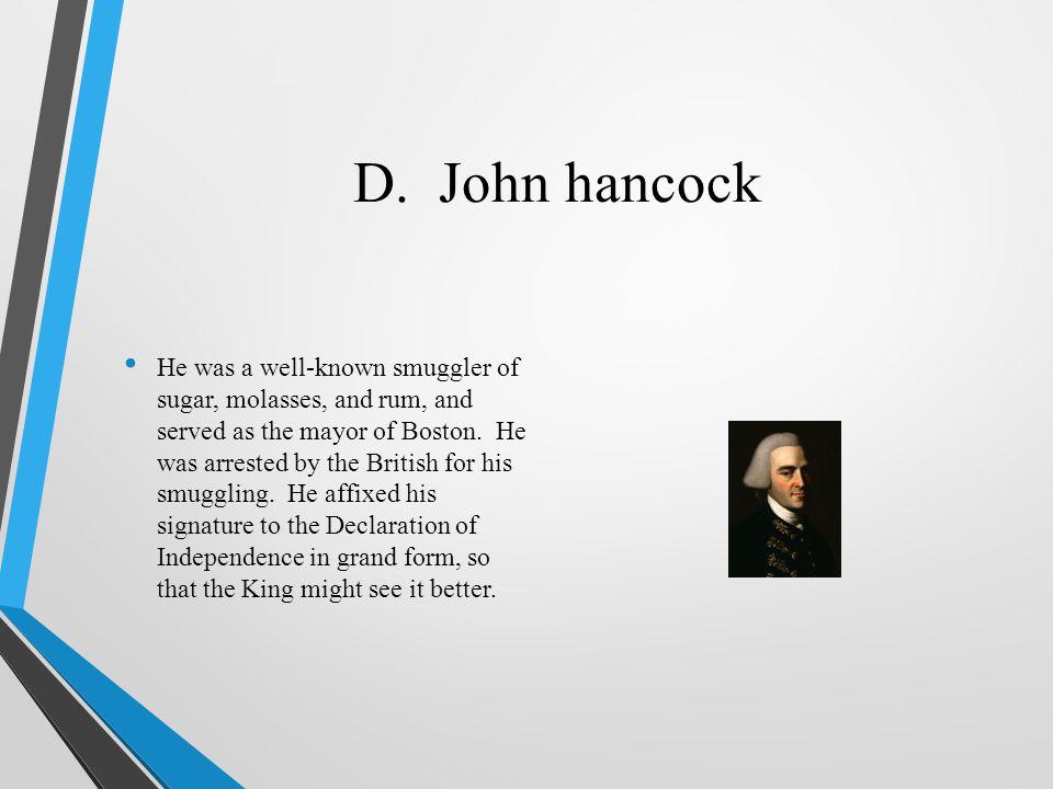 D. John hancock