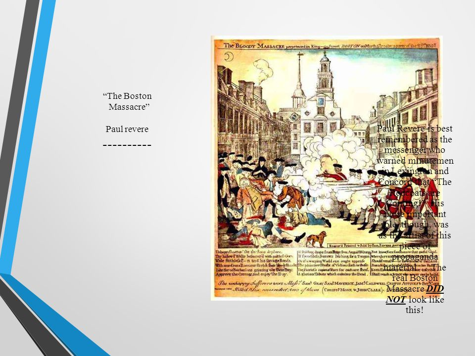 The Boston Massacre Paul revere ----------