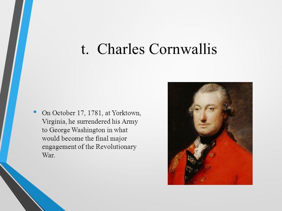 t. Charles Cornwallis